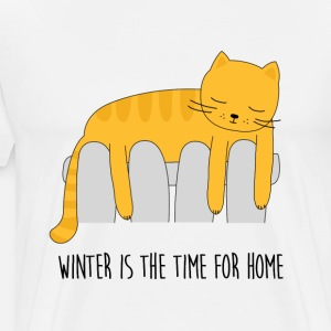 Katze auf Heizung winter is the time for home