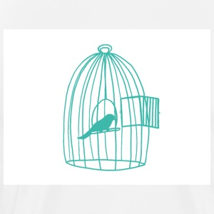 caged Bird - Herre premium T-shirt