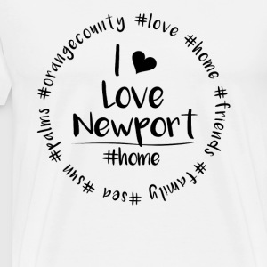 I love Newport - Orange County - Men's Premium T-Shirt
