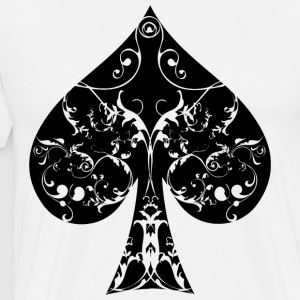 Pik Karte Symbol Tribal Poker Ass Hold´em - Männer Premium T-Shirt