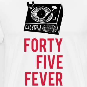 Forty Five Fever Skivspelare - Premium-T-shirt herr