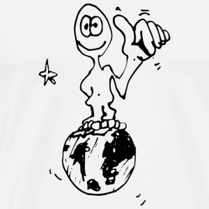 Globe and Alien - Mannen Premium T-shirt