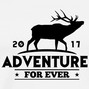 EVENTYR FOR EVER - DEER - Herre premium T-shirt