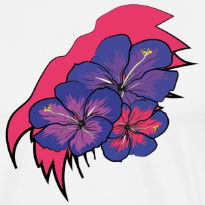 Crack with hawaii flowers - Men's Premium T-Shirt