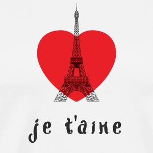 PARIS JE T'AIME RED HEART EIFFELTURM FRANCE - Men's Premium T-Shirt