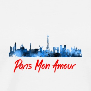 Paris Fashion Design Back - Men's Premium T-Shirt