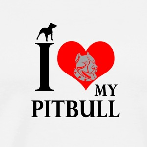 Dog T Shirt | I Love My Pitbull - Men's Premium T-Shirt