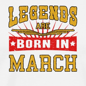Legends are born in March März Legenden Shirt - Männer Premium T-Shirt