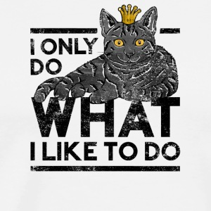 Funny I Do What I Want Cats Crown T Shirt - Men's Premium T-Shirt