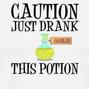 Attention! Trolls potion gobelin Halloween Costume - T-shirt Premium Homme