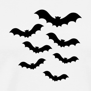 Creepy Bats Halloween - Herre premium T-shirt