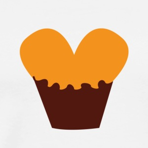 heart Muffin - Premium-T-shirt herr