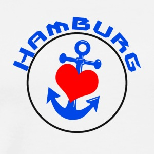 Hamburg Anchor with heart - Men's Premium T-Shirt