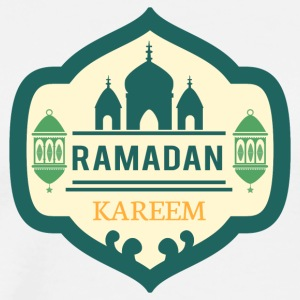 Ramadan. Kareem. Temple. Moon. Be. East. Allah - Premium T-skjorte for menn