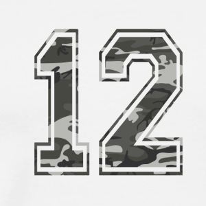 Numbers Camouflage Paintball Bundeswehr 12 - Men's Premium T-Shirt