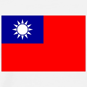 National Flag Of Taiwan - Premium-T-shirt herr