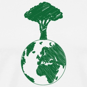 Earth Day / Earth Day: Earth and Tree - Men's Premium T-Shirt