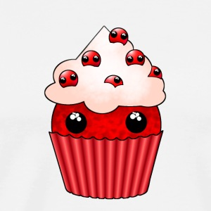 kawaii cupcake cranberry - Men's Premium T-Shirt