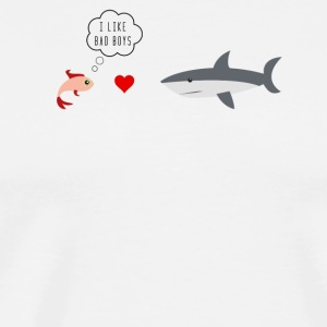 I like bad boys fish and hai with heart - Men's Premium T-Shirt