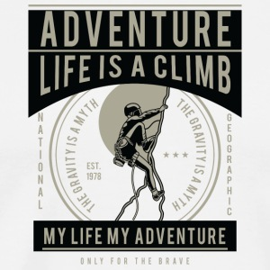 Life Is A Climb2 - Men's Premium T-Shirt