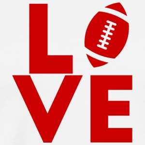 Super Bowl / Voetbal: Love - Mannen Premium T-shirt