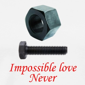 2 Impossible Love never - T-shirt Premium Homme
