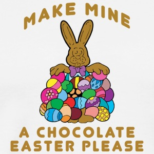 Easter Make Mine A Chocolate Easter Please - Men's Premium T-Shirt