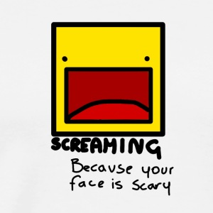 Screaming face - T-shirt Premium Homme