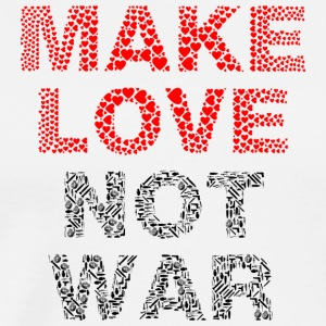 make Love Not War lettering - Men's Premium T-Shirt