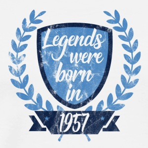 Legends were born in 1957 - Legends 1957 - Men's Premium T-Shirt