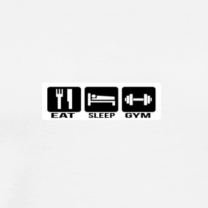 Eat Sleep Gym - Maglietta Premium da uomo