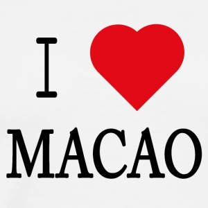 I Love Macau - Premium T-skjorte for menn