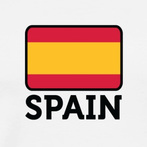 National Flag of Spain - Premium-T-shirt herr