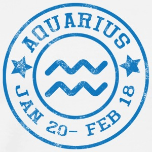 Astrological sign Aquarius / Zodiac Aquarius - Men's Premium T-Shirt