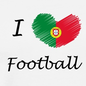 Football Portugal love - Men's Premium T-Shirt