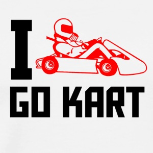 I love go kart - Men's Premium T-Shirt