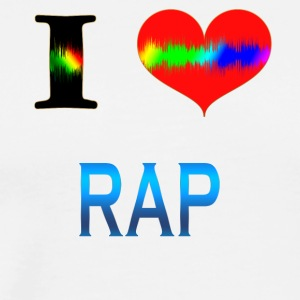 I Love RAP - Men's Premium T-Shirt