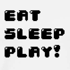 Eat, sleep, play! (Geek) - Men's Premium T-Shirt