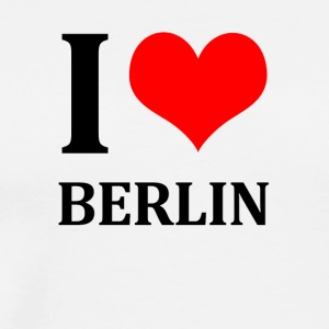 I Love Berlin - Premium T-skjorte for menn