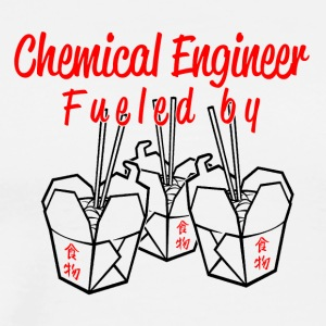 Chemical engineer fueled by china food - Men's Premium T-Shirt