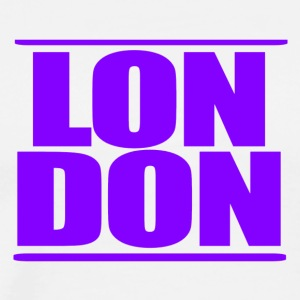LON DON Logo Purple - Premium-T-shirt herr