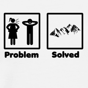 problem solved mountains - Men's Premium T-Shirt