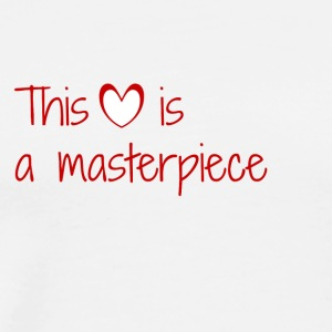 This heart is a masterpiece - Men's Premium T-Shirt