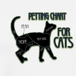 colored cats designs chart for cats - Men's Premium T-Shirt