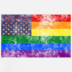 RAINBOW FLAG USA - T-shirt Premium Homme