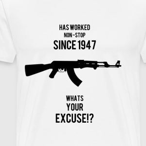 AK47 Whats your Undskyld - Herre premium T-shirt