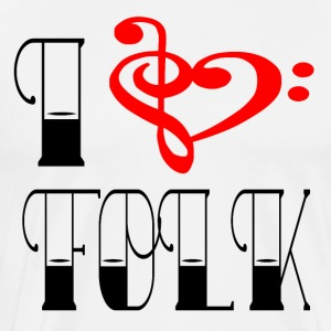 Notenschluessel FOLK LOVE - Premium-T-shirt herr