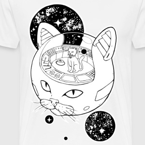 Space Emperor Cat - Men's Premium T-Shirt