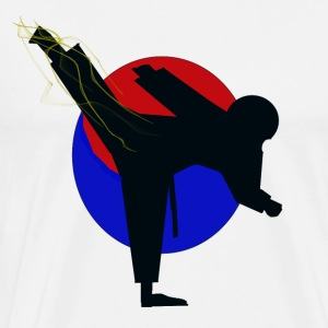 Taekwondo fighter design - Men's Premium T-Shirt