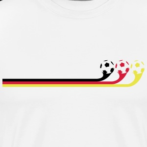 German flag / banner - soccer ball with color change